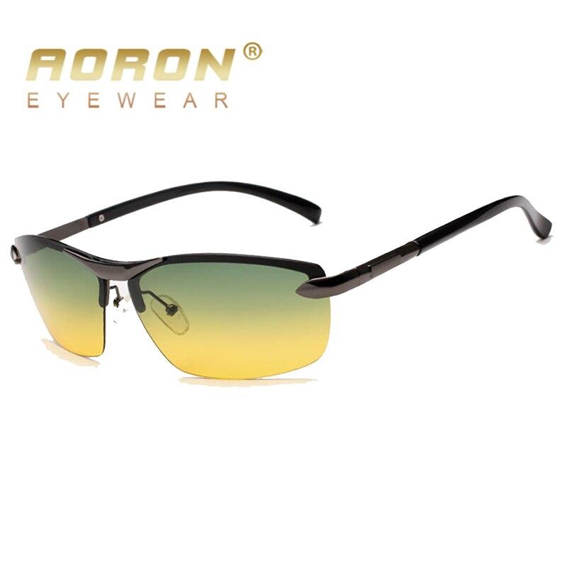 AORON Men's Polarized Sunglasses Day and Night Glasses Vison Multifunction Reduce Glare Goggles