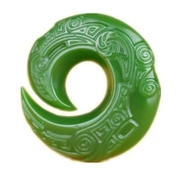real hetian jade good luck necklace pendant hand carved emerald gemstones men and women lucky amulet best gift