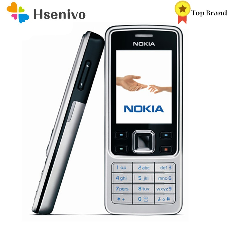 Nokia 6300 Refurbished-Original Unlocked Mobile Phone Unlocked 6300 FM MP3 Bluetooth Cellphone One Y