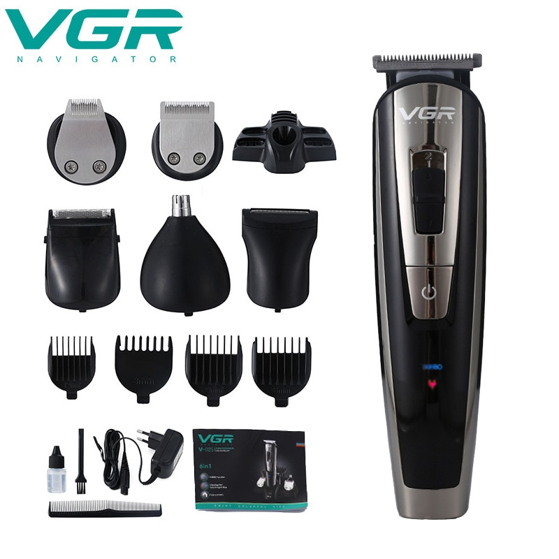 VGR Hair Clipper Multi-function Hair Clipper Professional Set Rechargeable Shaver Electric Oil Tip Electric Clipper enlarge