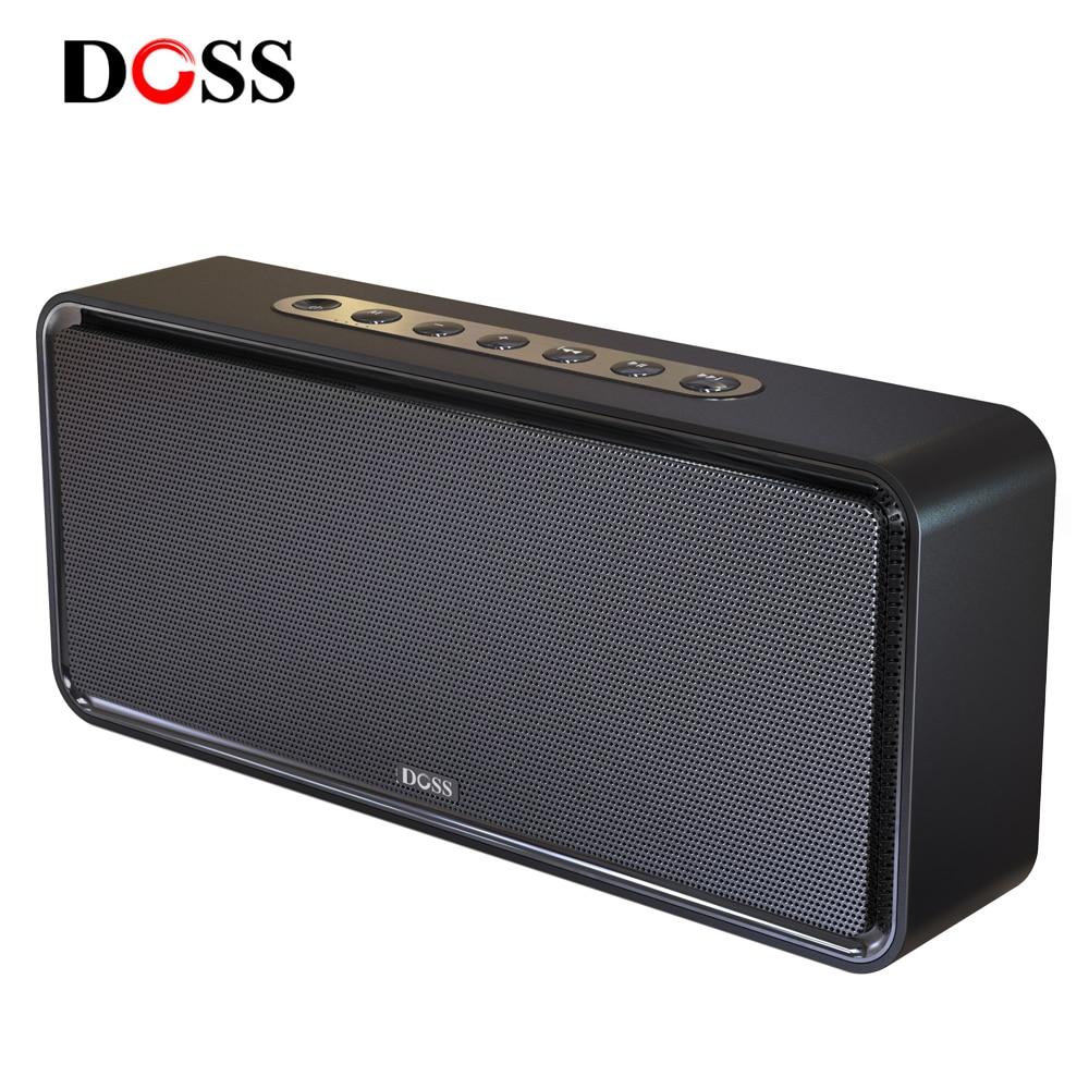 DOSS SoundBox XL قوية مكبرات صوت بخاصية البلوتوث صحيح اللاسلكية ستيريو باس مضخم صوت مكبر الصوت المحمولة الصوت صندوق تشغيل الموسيقى AUX للكمبيوتر
