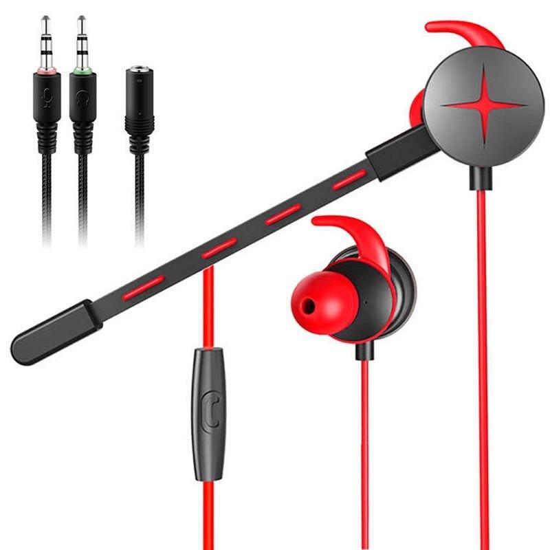 Nueva caja de almacenamiento para auriculares para juegos con cable con micrófono Control de volumen estéreo Cancelación de ruido para teléfono Xbox Gamer PS4