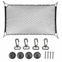 luggage net 4 hooks car trunk net dividing net cover net 110 x 60cm net in the trunk of a car organizer bag of a car