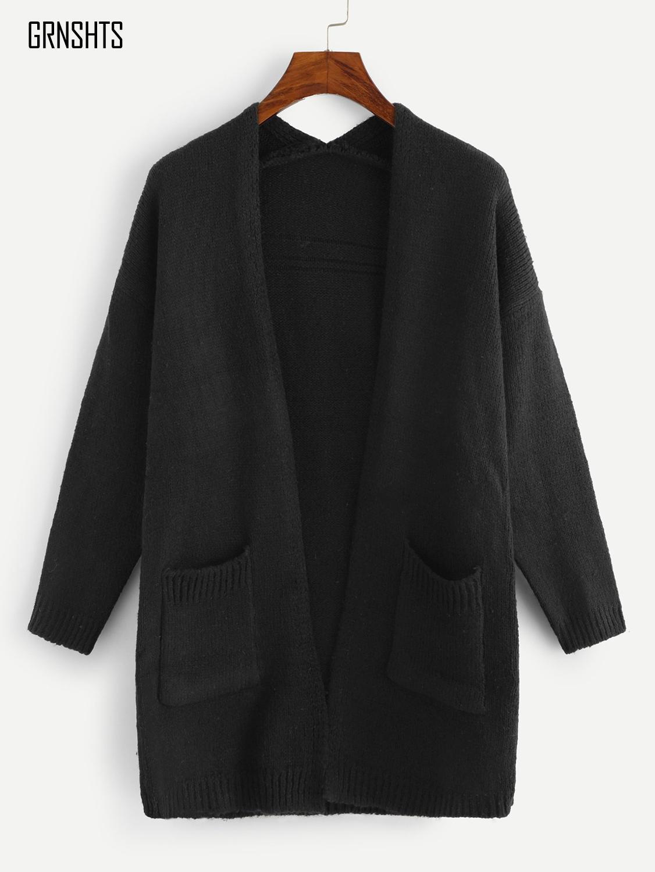 Nuevo cárdigan sólido de algodón de manga larga de punto suéter mujeres abierto Stitch Casual Sweters mujeres Cardigan Suelto