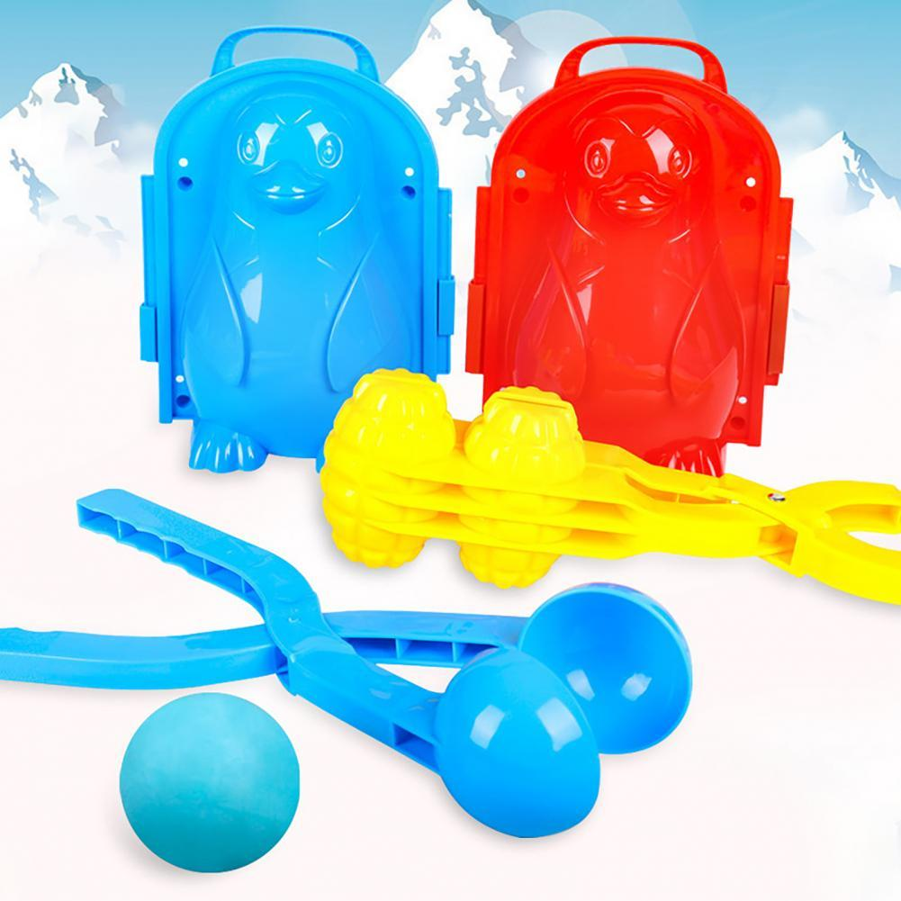 Winter Snowball Clamp Snowball Clip Kids Toy Plastic Outdoor Snowball Maker Clamp for Skiing