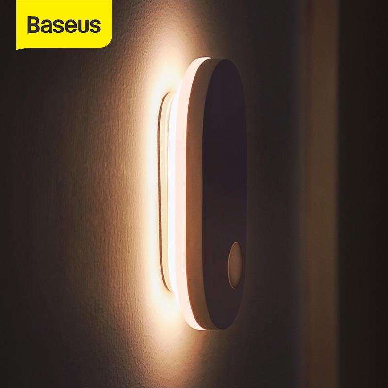 [해외] Baseus PIR 모션 센서 밤 빛 인간의 유도 백라이트 마그네틱 LED 빛 충전식 머리맡 램프 벽 램프 홈