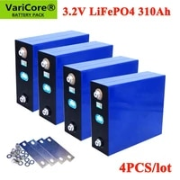 4pcs varicore 3 2v 310ah lifepo4 battery diy 12v 310ah rechargeable battery pack for electric car rv solar energy storage system