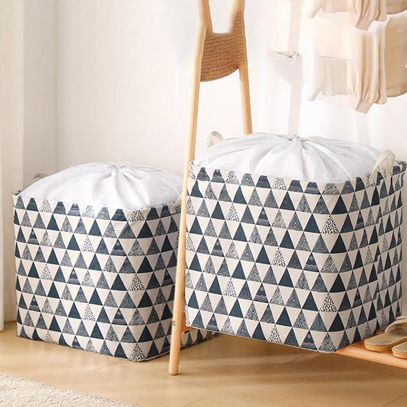 JOYBOS Clothing Organizers Storage Bags Foldable Clothes Basket Storage Waterproof Dustproof Clothing Sorting Bag 100L