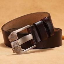 Men Plus Size 130 140 150 160 170cm Belt Cowskin Famous Brand Luxury Designer Real Cow Genuine Leath