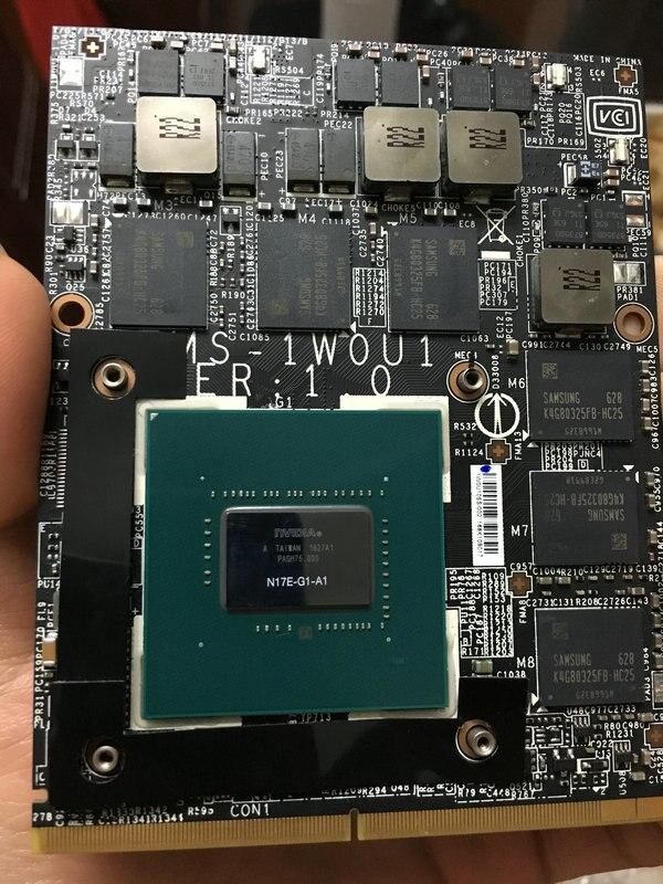 Gtx1060m gtx 1060 m 6 gb N17E-G1-A1 placa de vídeo vga para msi gt80 gt72 gt70 dell alienware m17x r5 m18x r3 hp clevo portátil