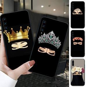 Hijab niqab islam Muslimah Girl black soft phone case cover for huawei honor 7A 8s 8x 9X 9 10 20s 20 lite V 30 PRO PLAY funda