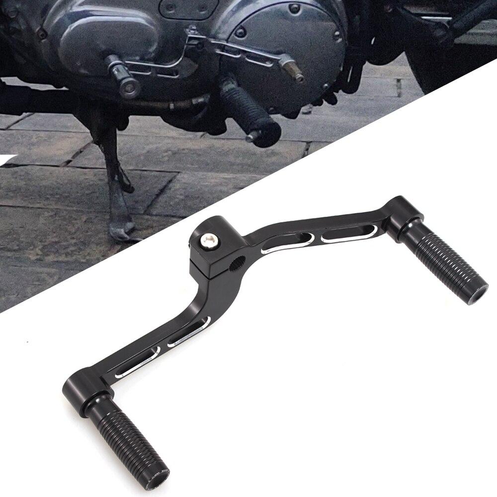 Palanca elevadora de talón y Puntera de Aluminio para motocicleta con reposapiés para Harley Sportster XL883 XL1200 Iron XL1200 48 Roadster