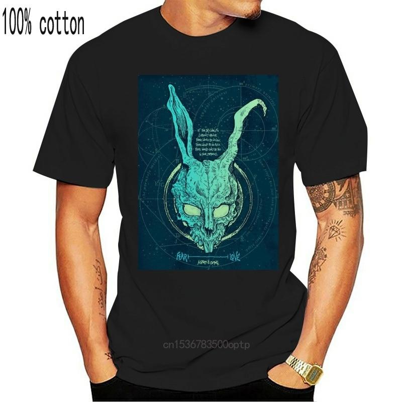 Masculino pré-algodão roupas 100% algodão camiseta donnie darko frank coelho crânio filme azul ray s-xl