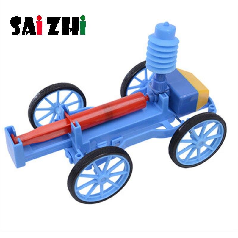 Saizhi Diy, coche de aire comprimido, desarrollo de tallo intelectual, Kit de experimentos de ciencia, conjunto de laboratorio para niños, regalo de cumpleaños SZ3247