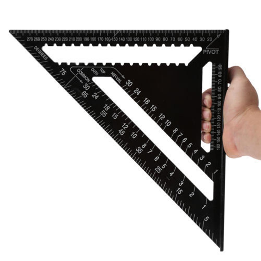 AliExpress - 12 inch Swanson Speed Square Metric Aluminum Alloy Triangle Angle Ruler Protractor Triangular Measuring Ruler Woodworking Tools