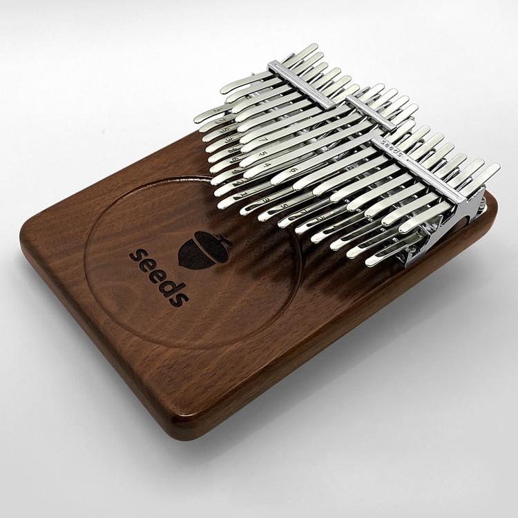 Seeds Pisces kalimba 34 Keys Xylophone Beginner Black walnut Acacia Double-layer Thumb Finger piano Musical instrument Keyboard enlarge