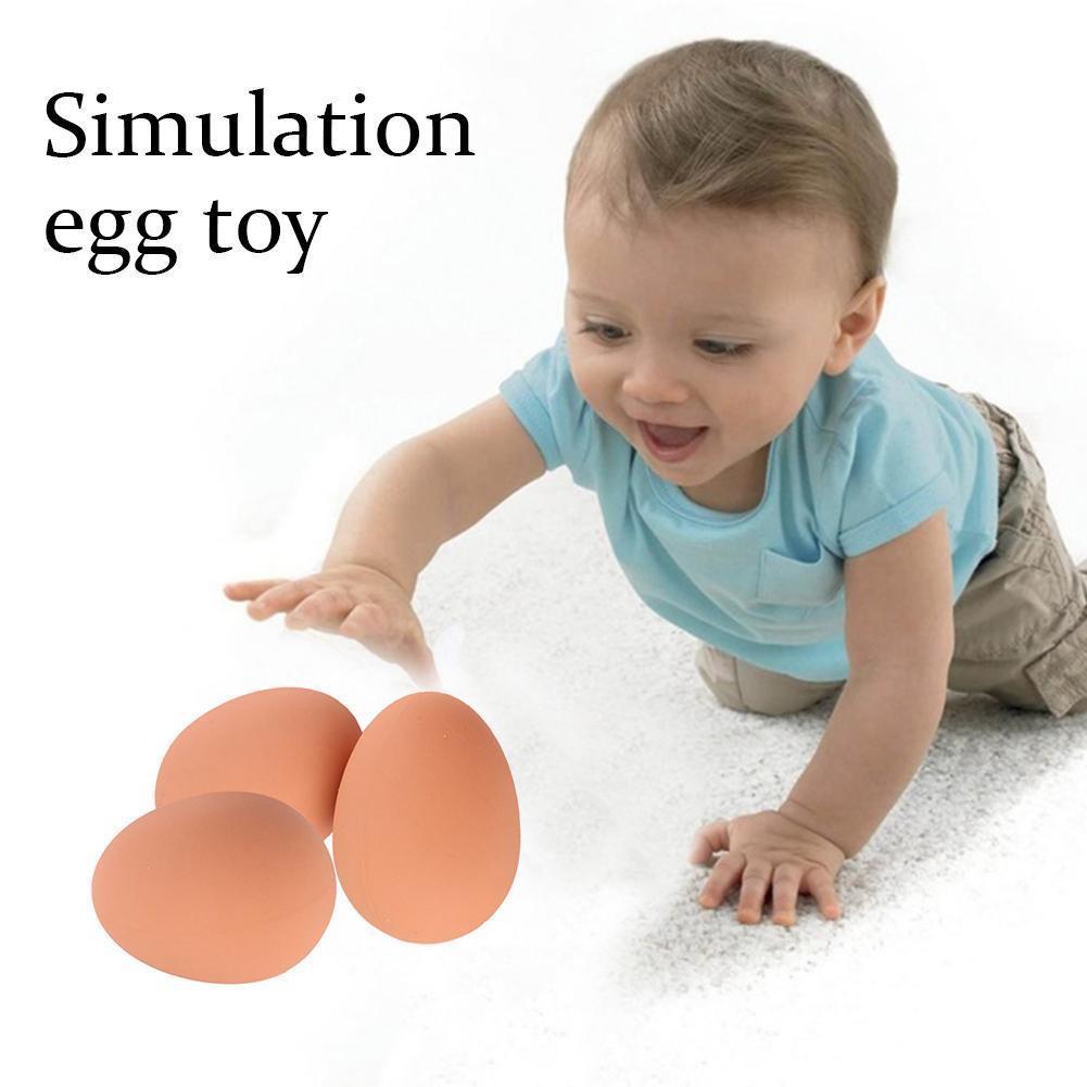 1 Pcs Novelty Bouncy Eggs Realistic Fake Rubber Bouncing Gifts Prank Toy For Kids Joke Balls Pet B5S4 недорого