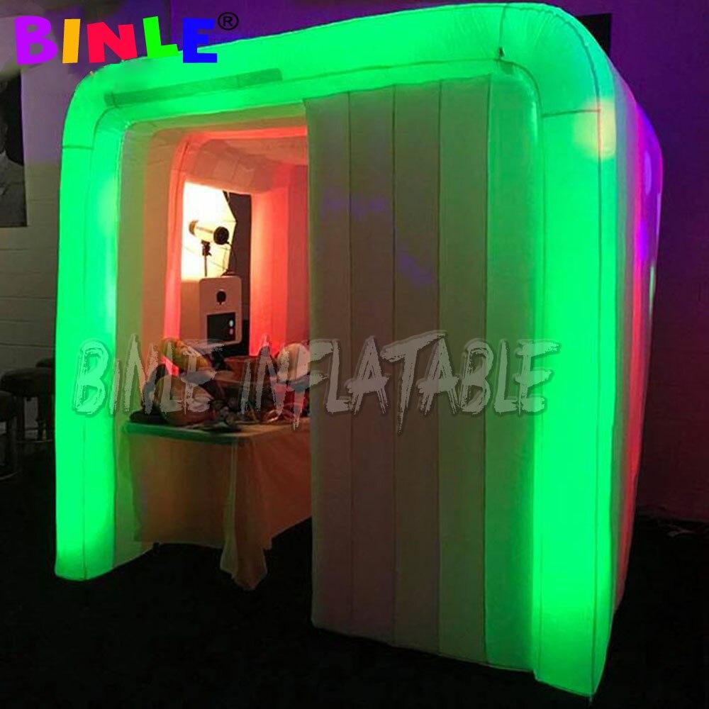 A barraca inflável portátil interna da fotocabine conduziu a sala inflável da cabine da foto da iluminação para a feira comercial/propaganda