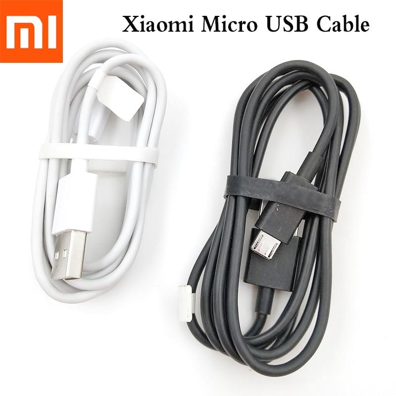 Xiaomi Original Micro USB Cable 1M de sincronización de datos de línea para Redmi 6 5 S2 6A 5A 4A 4X a2 Lite Nota 6 Pro Plus cargador Cable de alambre de Cable