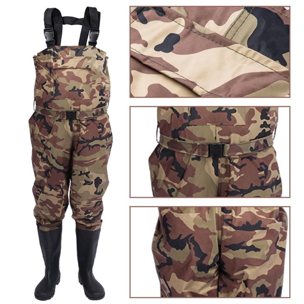 Outdoor Camouflage Hunting Farming pants Euro 38-47 Men Waterproof Anti-wear Waders Pants Boots Fishing Suspender Jumpsuit A9252 enlarge