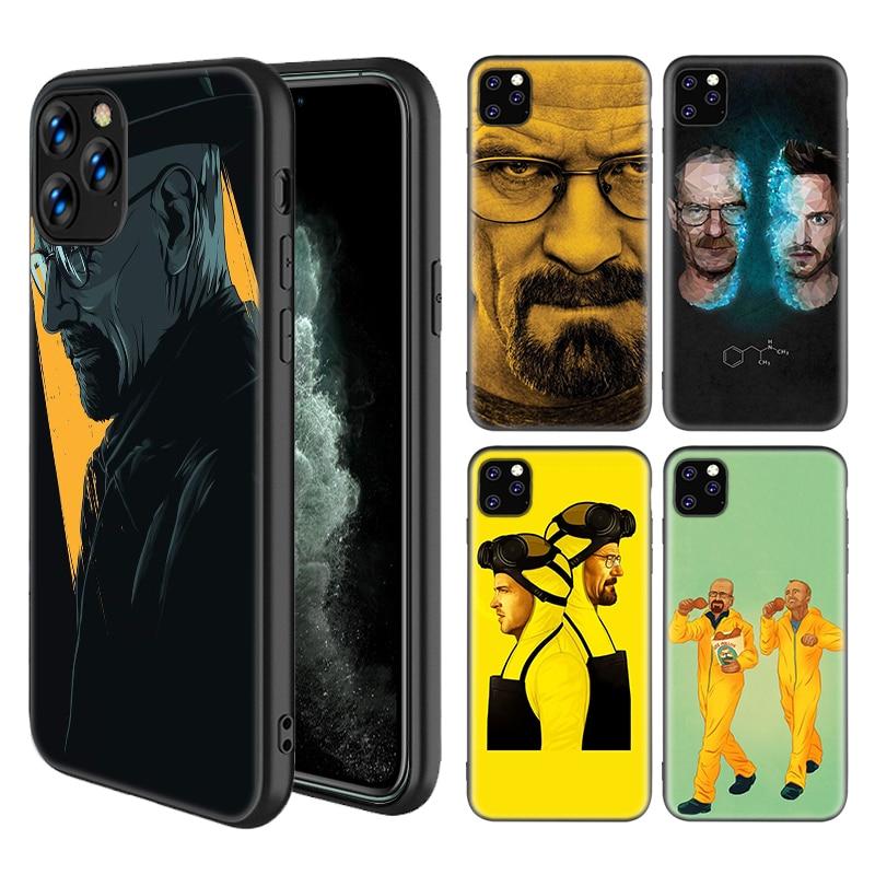Heisenberg rompiendo mal casos para Apple iPhone 11 Pro X XS X MAX XR 7 7 6 6S Plus 5 5S SE de silicona negro Sac teléfono Coque cubierta