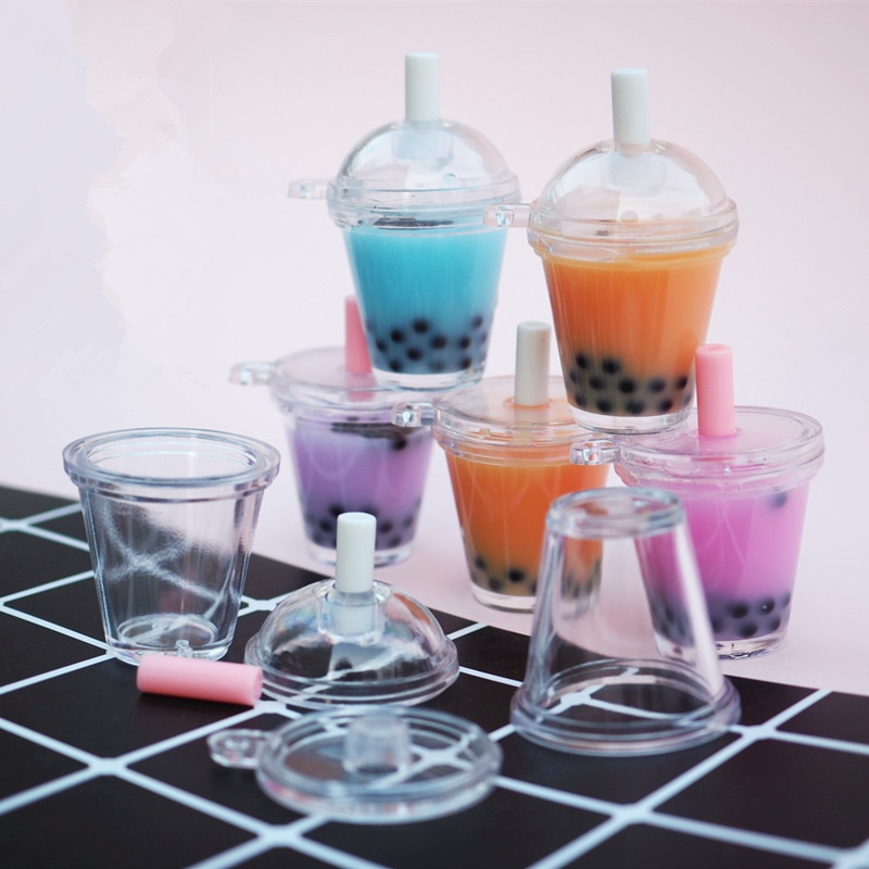 Boba té 3D miniatura burbuja leche muñeca de té casa bebida cabujón Mini alimentos joyería DIY Kawaii suministros resina molde joyas herramientas