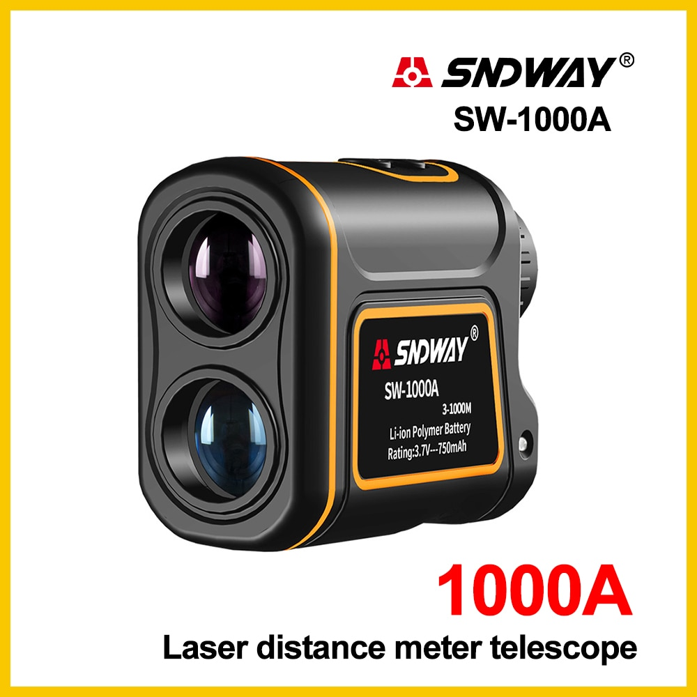 Sndway laser telêmetro telescópio 1000m medidor de distância a laser construção golf caça laser range finder SW-1000A
