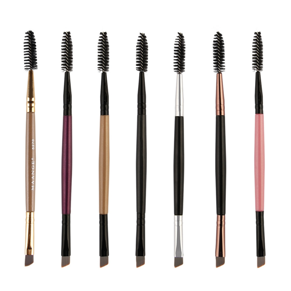 1 Pcs Eyelash Eyebrow Brush Double Head Brush Eyelash Eyebrow Cosmetics Beauty Tools Makeup Brush Ey