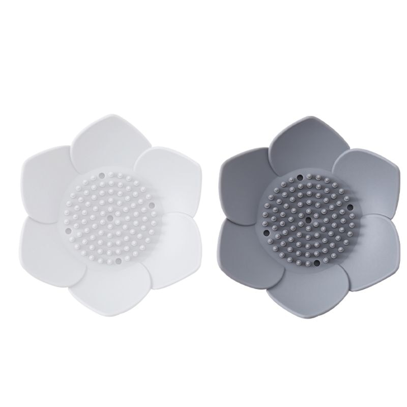 2020 silicona Flexible ducha de baño jabón plato de caja bandeja de placa de almacenamiento drenaje titular flor Soapbox