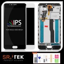 Srjtek para meizu m5s display lcd para meizu m5s matriz de tela toque digitador sensor vidro com quadro para meilan 5S m612h m612m