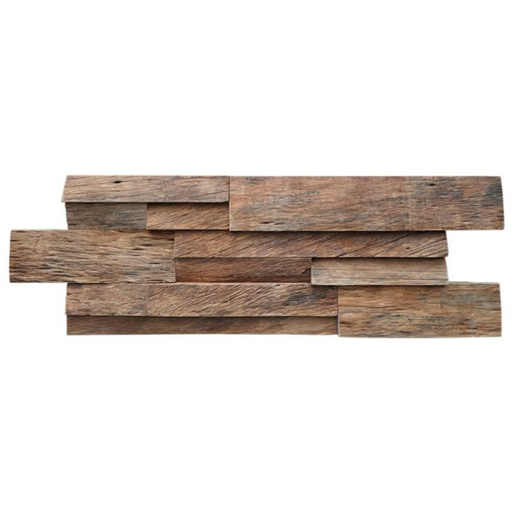 Barco de Madeira Antigo Moaic Backsplash Telha Parede Velho Wodden Wallboard Dq187 4 Pçs 3d