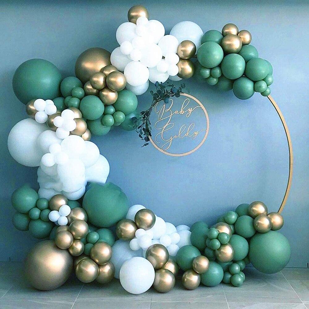 137 шт./лот Sage оливково-зеленые воздушные шары Arch Kit белые золотые шары Ретро зеленые шары на день рождения воздушные шары для детского душа ...