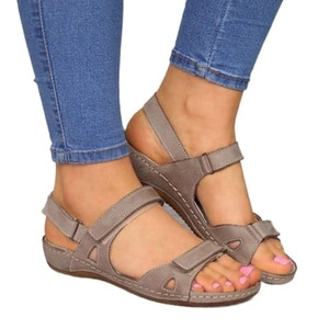 2021 Women Sandals Flat Open Toe Shoes Women Casual Platform Ladies Vintage Office Party Sandals Dropshipping Zapatos De Mujer