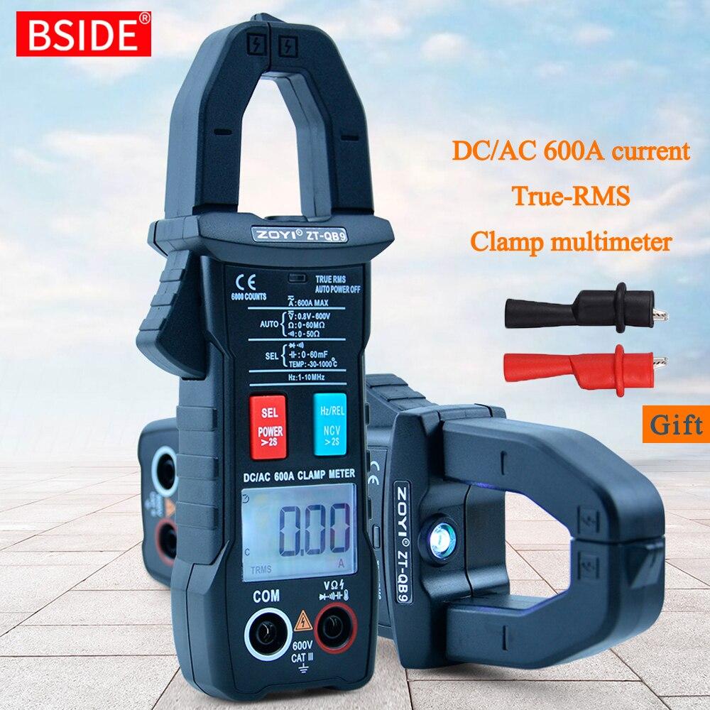 BSIDE-مقياس المشبك الرقمي ، موديل 600A ، تيار حقيقي ، RMS ، ذو طيات ذكية ، مقياس التيار الكهربائي ، مقياس متعدد 6000 ، تيار مستمر ، جهد تيار متردد ، هرت...