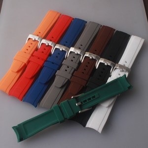 18mm 20mm 22mm Silicone Watch Strap Colorful Waterproof Watchband for Role Daytona GMT Submariner DEEPSEA OYSTERFLEX Watch Black