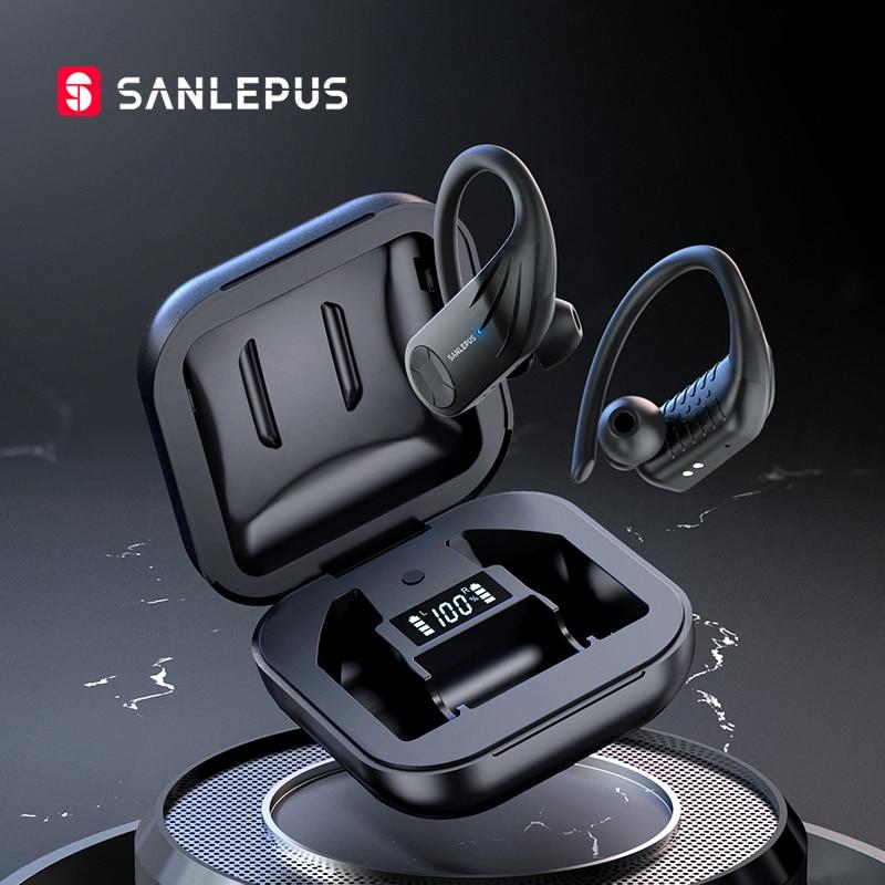 SANLEPUS B1 Led Display Bluetooth Earphone Wireless Headphones TWS Stereo Earbuds Sport Gaming Headset For Xiaomi Huawei iPhone