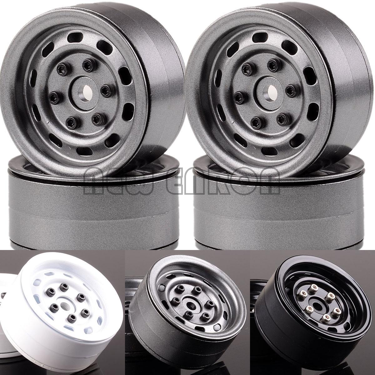 Nuevo ENRON, 4 Uds., 1,9 pulgadas, llantas de aluminio con abalorios, 1067 RC 1/10 Rock Crawler SCX10 TRX-4 D90 TRX-4 Tamiya CC01 MST jimny TF2