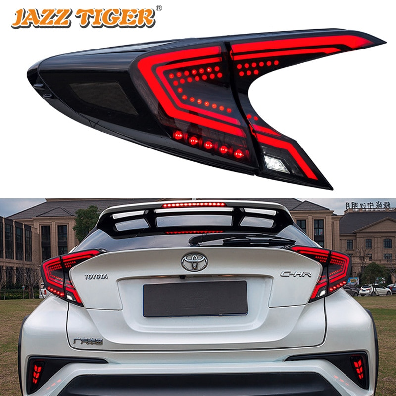 Lámpara trasera de estilo de coche para Toyota C-HR luz trasera 2018-2019 CHR lámpara trasera LED DRL señal dinámica freno accesorios de coche