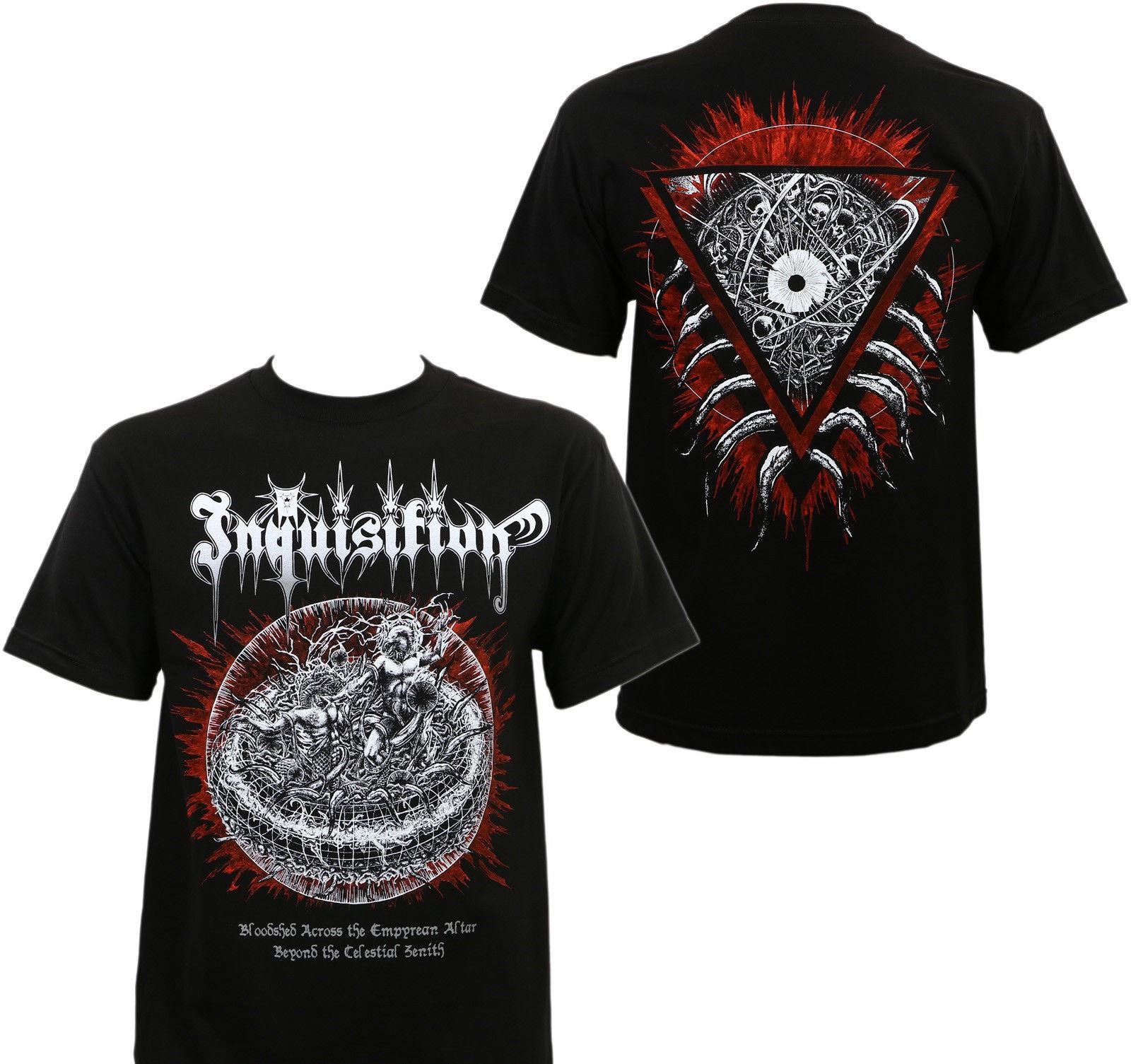 Camiseta con cuello redondo de verano, camisetas a la moda con personalidad para hombres, camiseta auténtica con banda Inquisición derramamiento de sangre S M L Xl 2Xl nuevo 031919