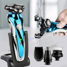 New Electric Shaver Washable Rechargeable Electric Razor Shaving Machine for Men Beard Trimmer Wet-D