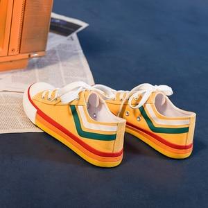 Women's jogging shoes absorption shoes Women Vulcanize Shoes low-top shoes canvas shoes women shoes rainbow bottom women's shoes