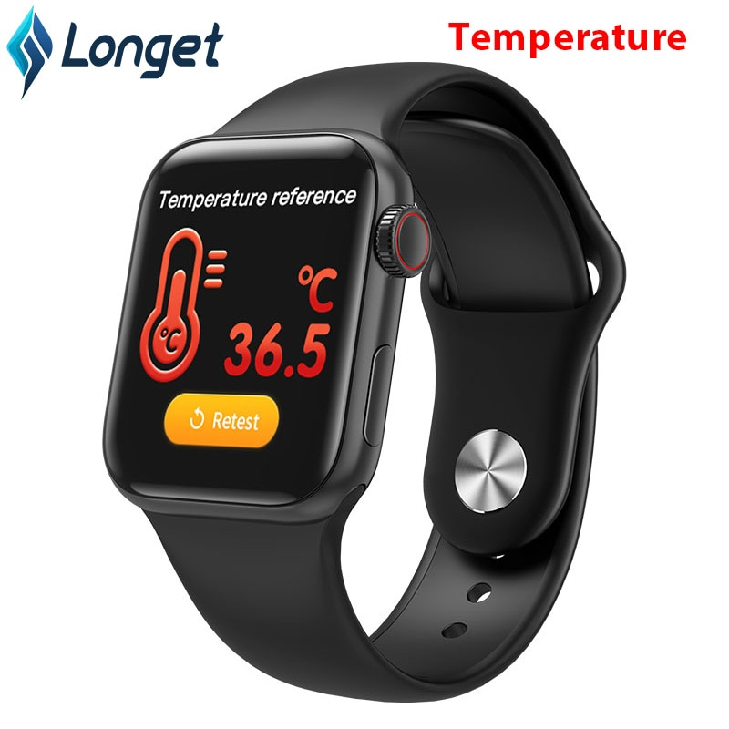 Reloj inteligente Longet con temperatura corporal para ritmo cardíaco Android W58PRO Tracker presión arterial ip67 pantalla completamente táctil Smartwatch