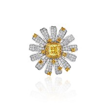 Trendy 925 Sterling Silver Daisy Flower Brooches for Women Designer Silver 925 7A Cubic Zirconia Bro