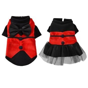 Платье для собак одежда для домашних животных платье для пары чихуахуа юбка одежда для щенков весенние платья принцессы для собак