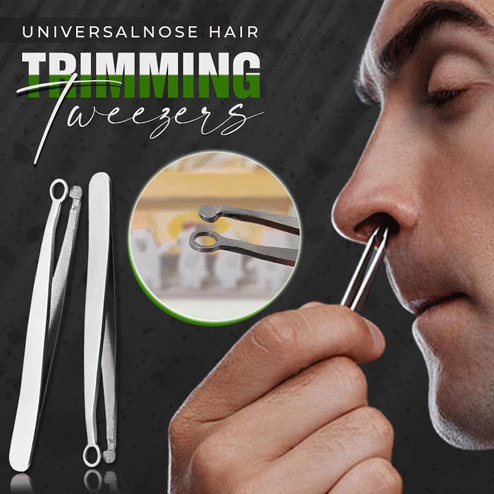 Nose Hair Trimming Tweezers Nose Trimmer Tweezer Round Tip Perfect Steel Nose Hair Removal Trimming Nose Hair Removal Tweezers