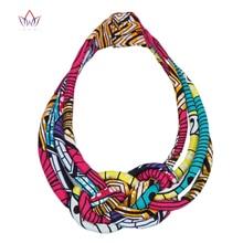 2020 tissu africain bavoir Batik collier Ankara tissu noeud à la main collier Tribal colliers pour les femmes WYB42
