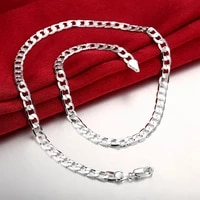 factory direct charm fashion 925 sterling silver necklaces for women man classic 6mm chain jewelry wedding party christmas gifts