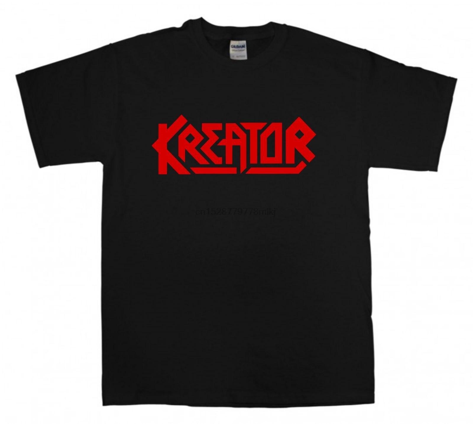 KREATOR nouveau noir T-shirt rouge Logo S-XXL Thrash métal T-shirt Sepultura Slayer hommes marque Clothihng Top qualité T-shirt 100% coton