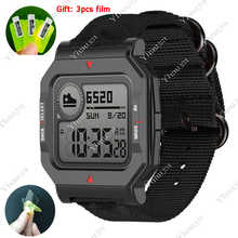 Ремешок для часов Amazfit Neo, нейлоновый браслет для Huami Amazfit NEO, спортивный ремешок, нейлоновый плетеный браслет, аксессуары для часов, 2020
