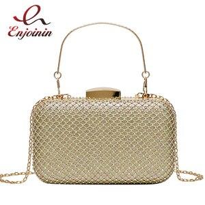 Luxury Diamond Cross Pattern Party Wedding Clutch Bag Purses and Handbags Women Shoulder Chain Bag Designer Bag 2021 Chain Bag